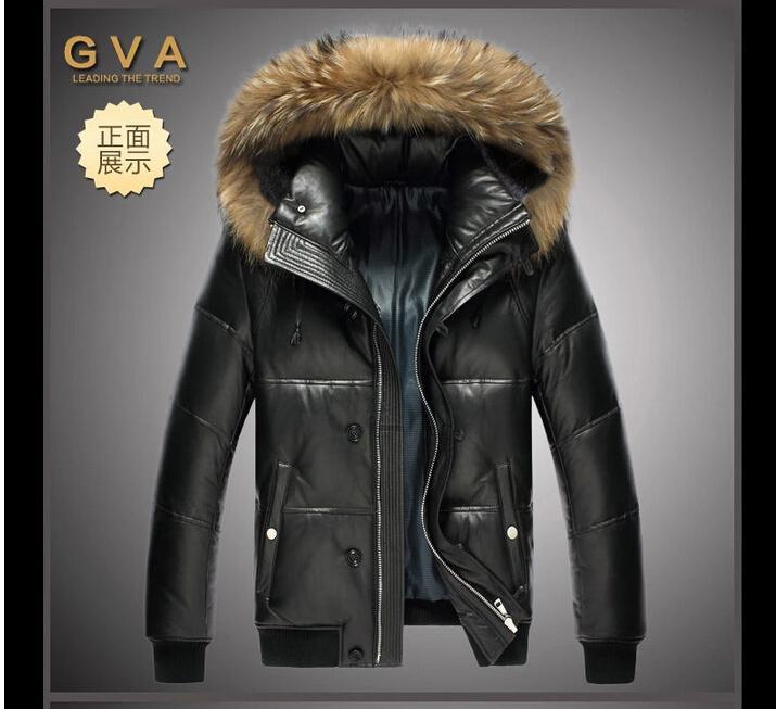 2017 2016 New Men'S Jacket High Quality Leather Jacket Leather ...