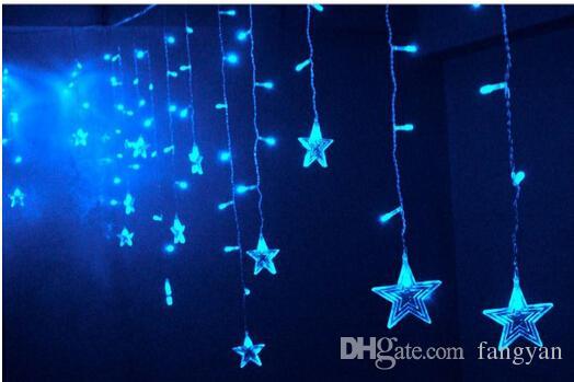 4M*0.8M led star curtain lights for Christmas wedding decoration interior light icicle light strings of lights flashing fairy lights.