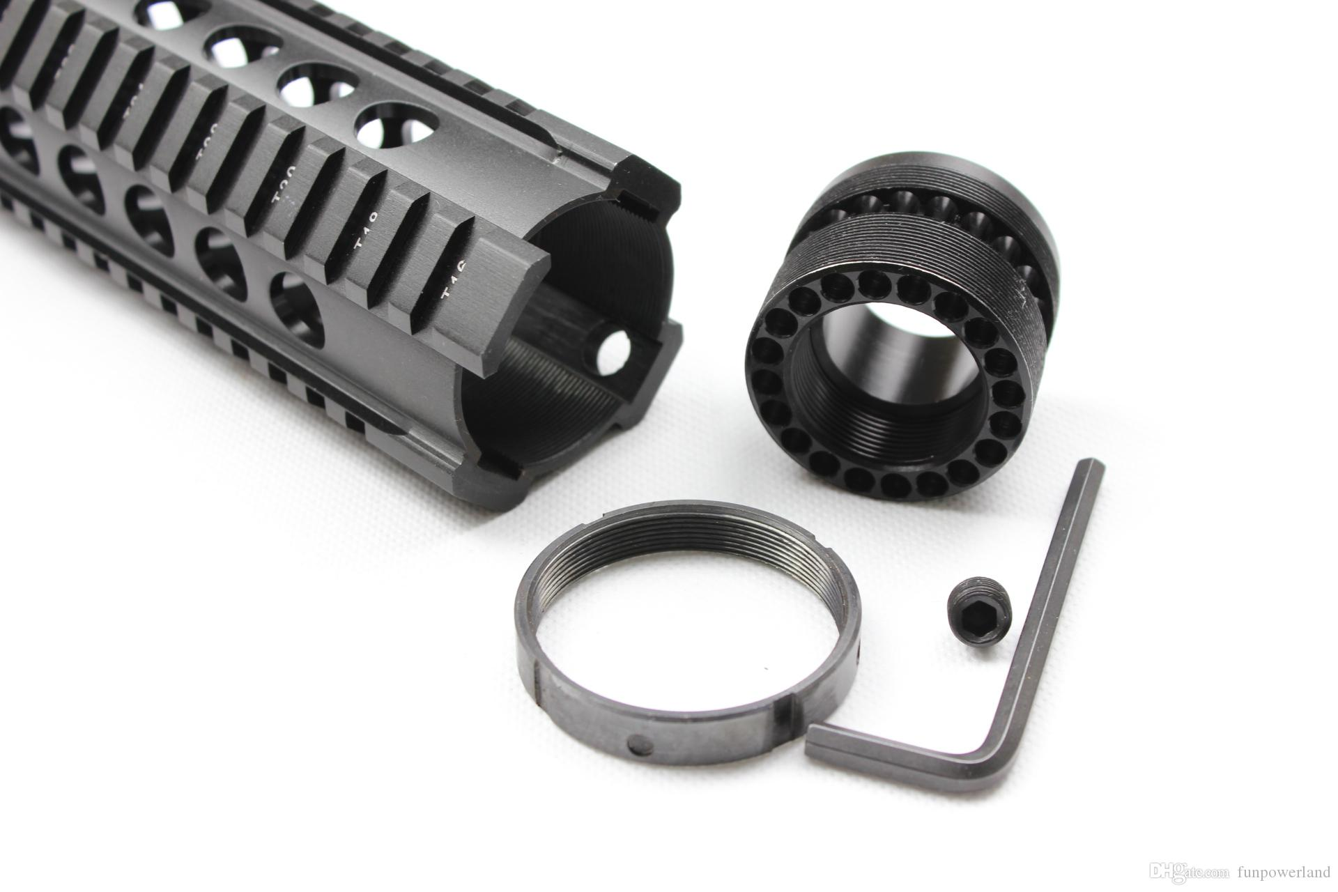 Funpowerland High quality Tactical T-Serie 4/15 Free Float 12 Inch Handguard Quad Rail Scope Mount