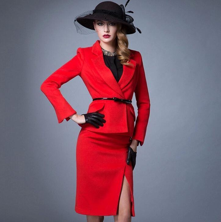Red Womens Suit - Hardon Clothes