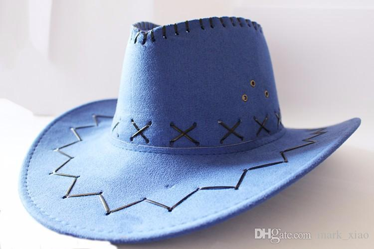 American Western Cowboy hat and cap Hollywood Style Party Costume for travel leather cowboy hat straw cowboy hat