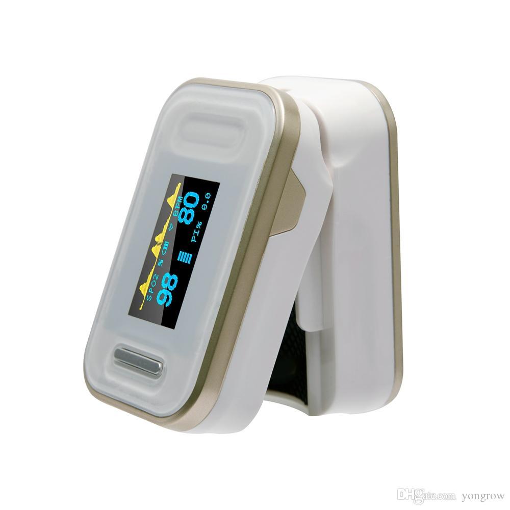 Oxímetro de pulso portátil con yema de dedo Yonker Monitor de saturación de oxígeno sanguíneo médico con cordón CE Productos certificados por la FDA - Oro