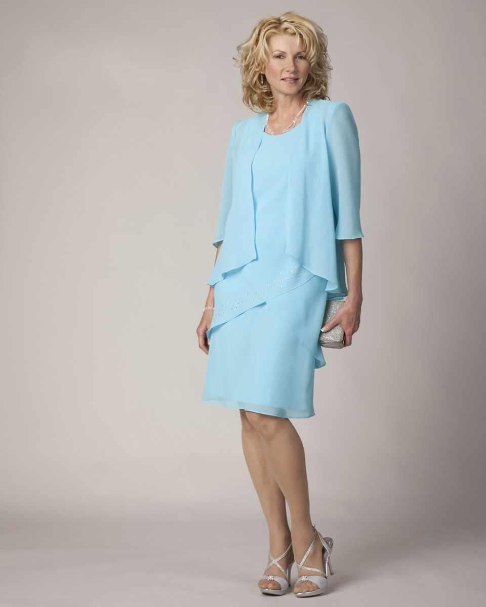 Semi Mother Of The Bride Dress Mother Mature Lady Formal