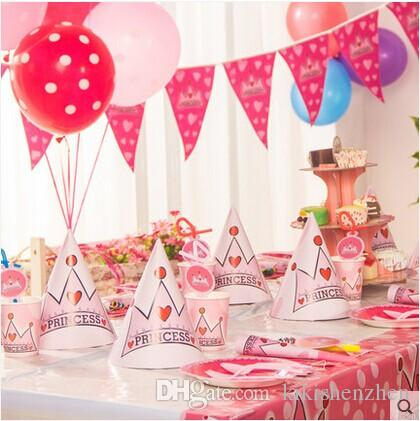 Luxury kids birthday decoration set frozen princess theme for Baby girl birthday decoration pictures