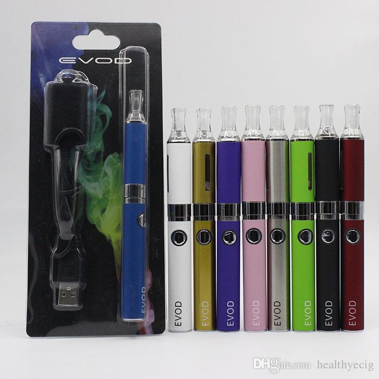 Hochwertige eVod MT3 Starter-Blisterpackungen pack Elektronische Zigarette mt3 Wiederaufladbarer Zerstäuber eVod Batterie 650mah 900mah 1100mah 08h042