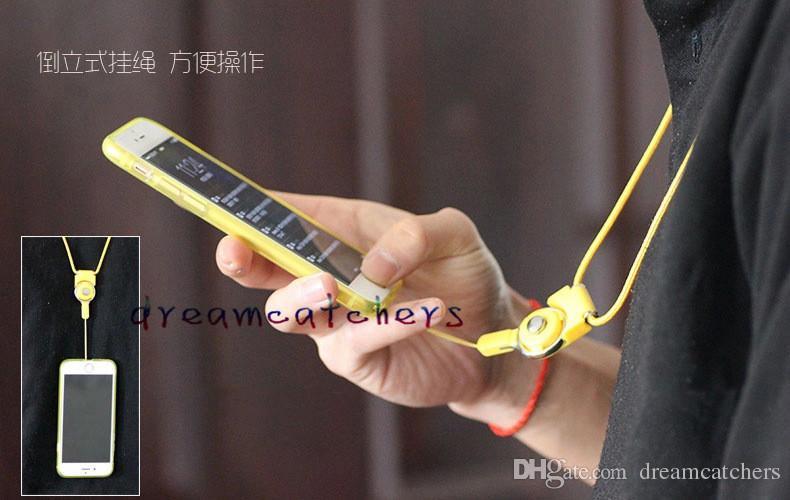 아이폰 6 케이스 커버 카드의 휴대 전화 목 패션 매달려 로프 꼰 분리 스트랩 2 1 개 기능 매는 밧줄 슬링 손가락 반지