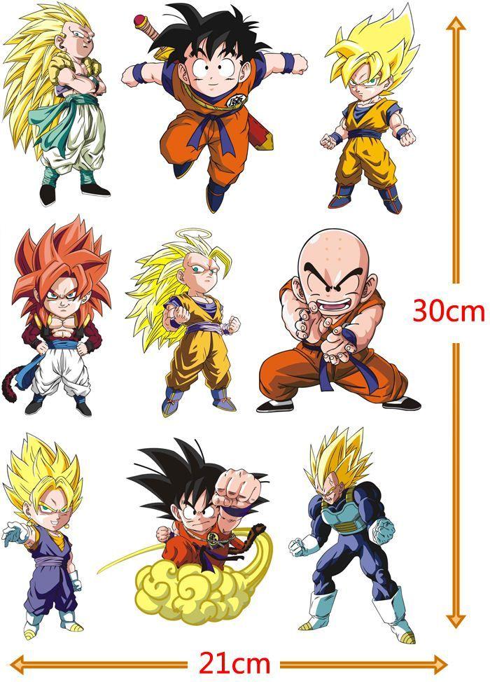 dragonball cartoon characters sticker a4 size pvc dragon ball z goku