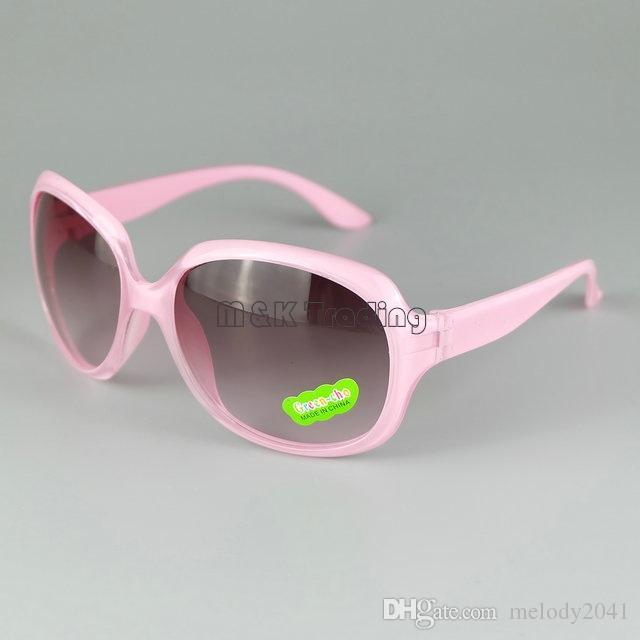 Crianças óculos de Sol Grande Em Torno Do Quadro de Verão Praia Óculos de Sol Crianças Óculos UV400 Mix 8 Cores 24 pçs / lote