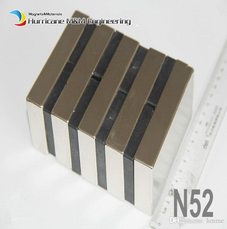 """1 Pack Grade N52 NdFeB Block 100x50x20mm about 3.94"""" Rectangle Bar Strong NdFeB Bar Neodymium Permanent Magnets Industry Magnets"""