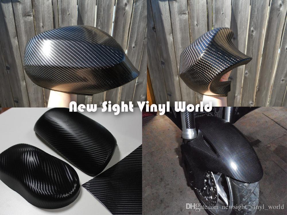 Involucro nero della fibra del carbonio del vinile 4D della fibra del carbonio 4D la bolla libera dell'involucro dell'automobile Formato: 1.52 * 30m / Roll