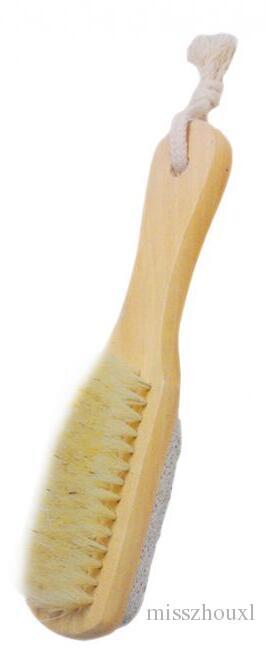 Bad Borsten reinigen Füße Pinsel Holz Bimsstein Füße Pediküre Schwielen-Abbau Fußpflege Pinsel Remover tote Haut reinigen