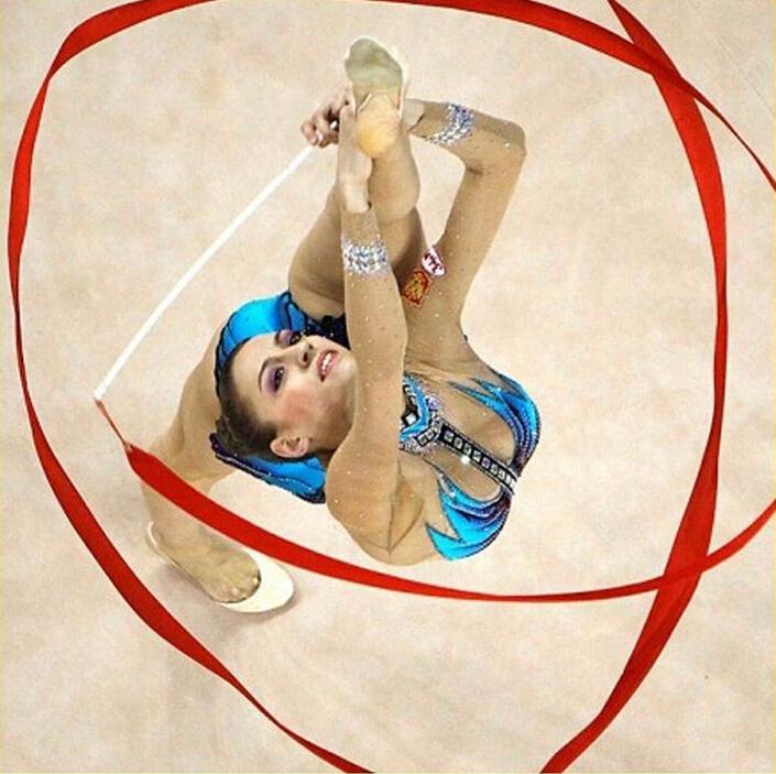 Cintas coloridas de la aptitud Danza Ribbon Gym de la gimnasia rítmica arte gimnasia Ballet Streamer regalo de la barra de giro es liberan el envío