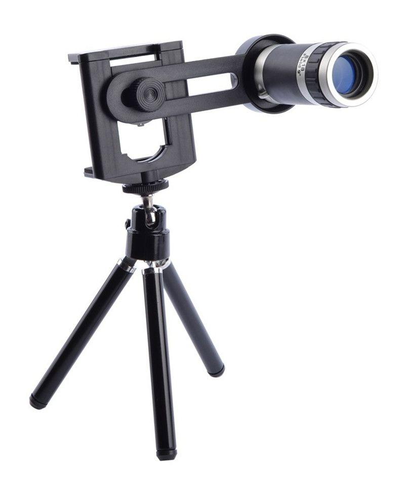 Lentes de teleobjetivo universales de 8X Zoom Telescope Camera para iPhone 4 4S 5 5C 5S 6 Plus Samsung Galaxy S3 S5 Note 4