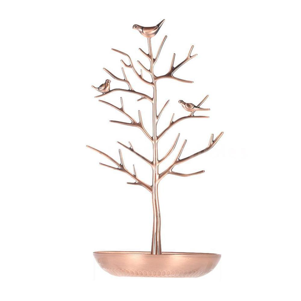 Metal Tree Jewelry Stand Display Rack Earring Necklace Ring Holder Organizer