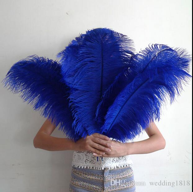 Colours diy ostrich feathers plume centerpiece for