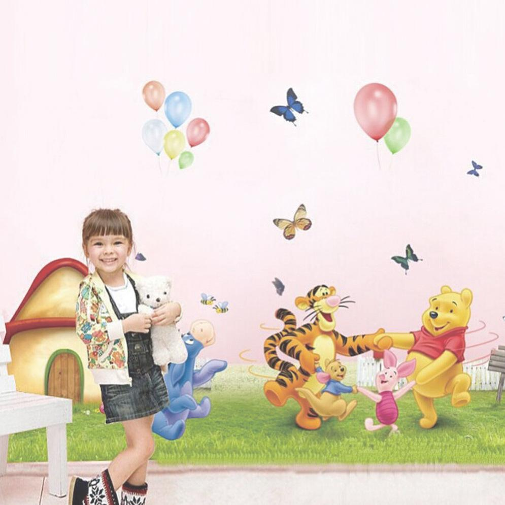 Cartoon Pattern Wall Sticker Children Bedroom Living Room Background ...