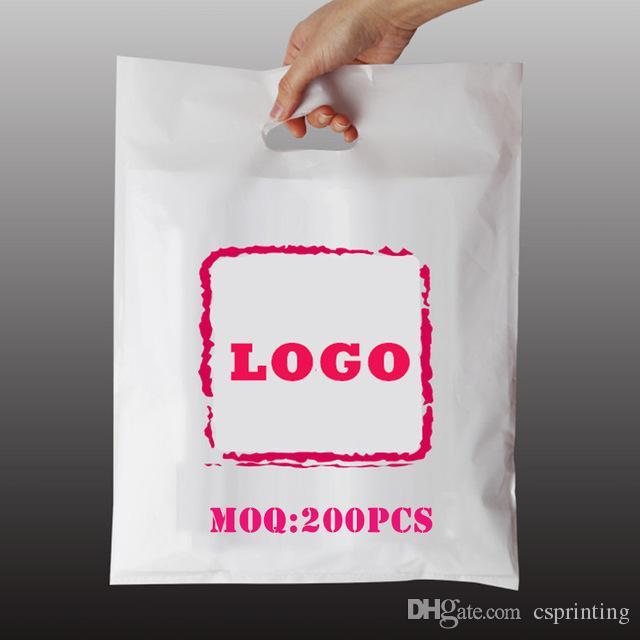 2019 Plain Color PE Bags Customized Company Design