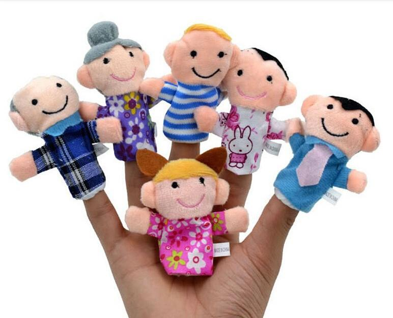 Finger Puppets Reborn Babies Story Toy 6 People Family Hand Finger