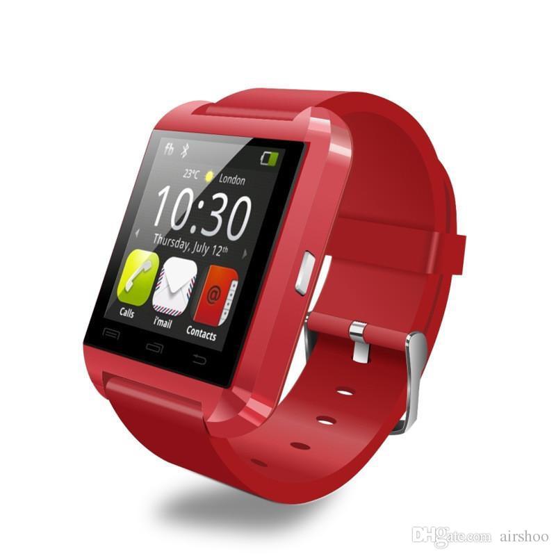 블루투스 스마트 시계 U8 WristWatch 디지털 스포츠 시계 IOS 안 드 로이드 삼성 휴대 전화 착용 가능한 전자 장치 U 8 소매 상자
