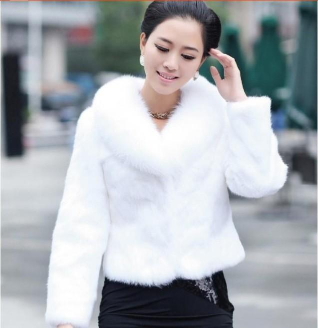 2017 Manteau Bomber Black/White Faux Fur Coat 2015 Winter Cheap ...