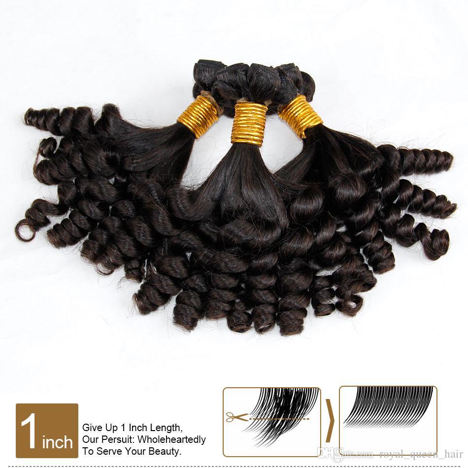 3 adet Çok Işlenmemiş Ham Bakire Moğol Teyze Funmi Kıvırcık Saç Nijeryalı Tarzı Kabarık Spiral Romantizm Bukleler% 100% İnsan Saç Uzantıları