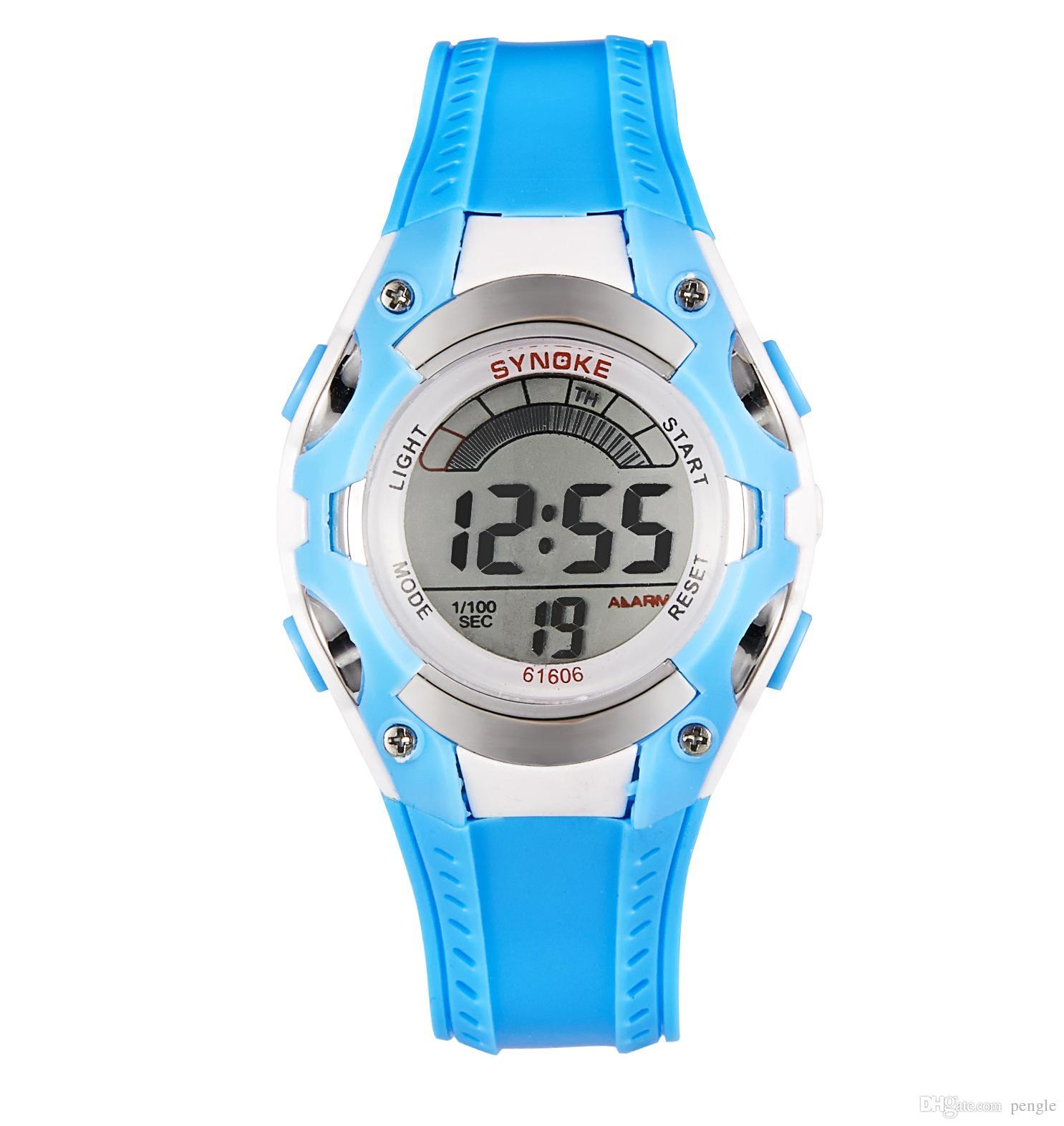 Nueva moda multifunción Cool Sport reloj electrónico luminoso relojes vida impermeable digital para niños reloj envío gratis