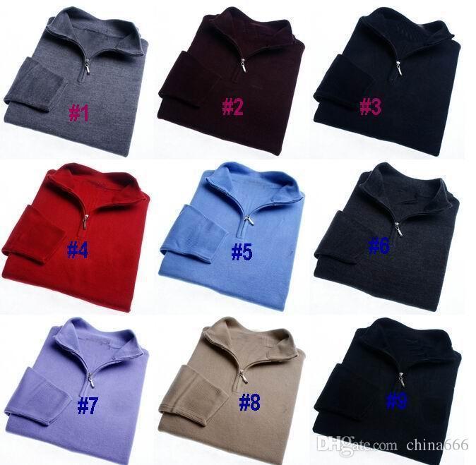 2017 FRETE GRÁTIS marca de Alta qualidade Novo Zipper camisola Suéter de Cashmere Jumpers pulôver dos homens do Inverno camisola dos homens blusas de marca. # 932
