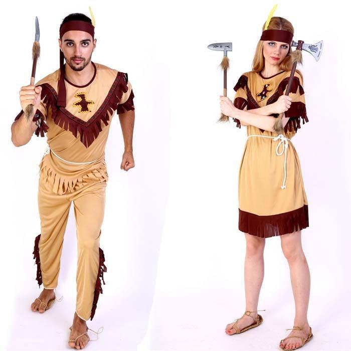 native american costume wild west adult women men indian halloween fancy dress - Halloween Native American