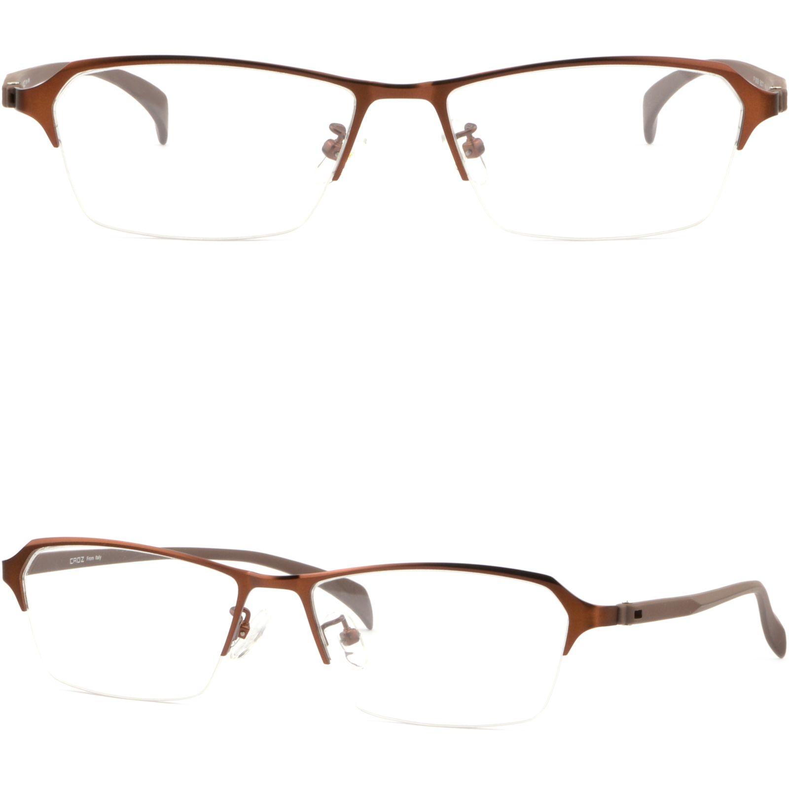 faee788622 Half Rim Men s Light Titanium Alloy Frame Prescription Glasses ...