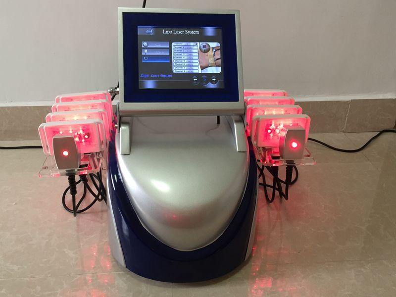 전문 다이오드 Lipolaser 셀룰 라이트 제거 지방 불타는 lipo 레이저 바디 슬리밍 기계 650nm980nm