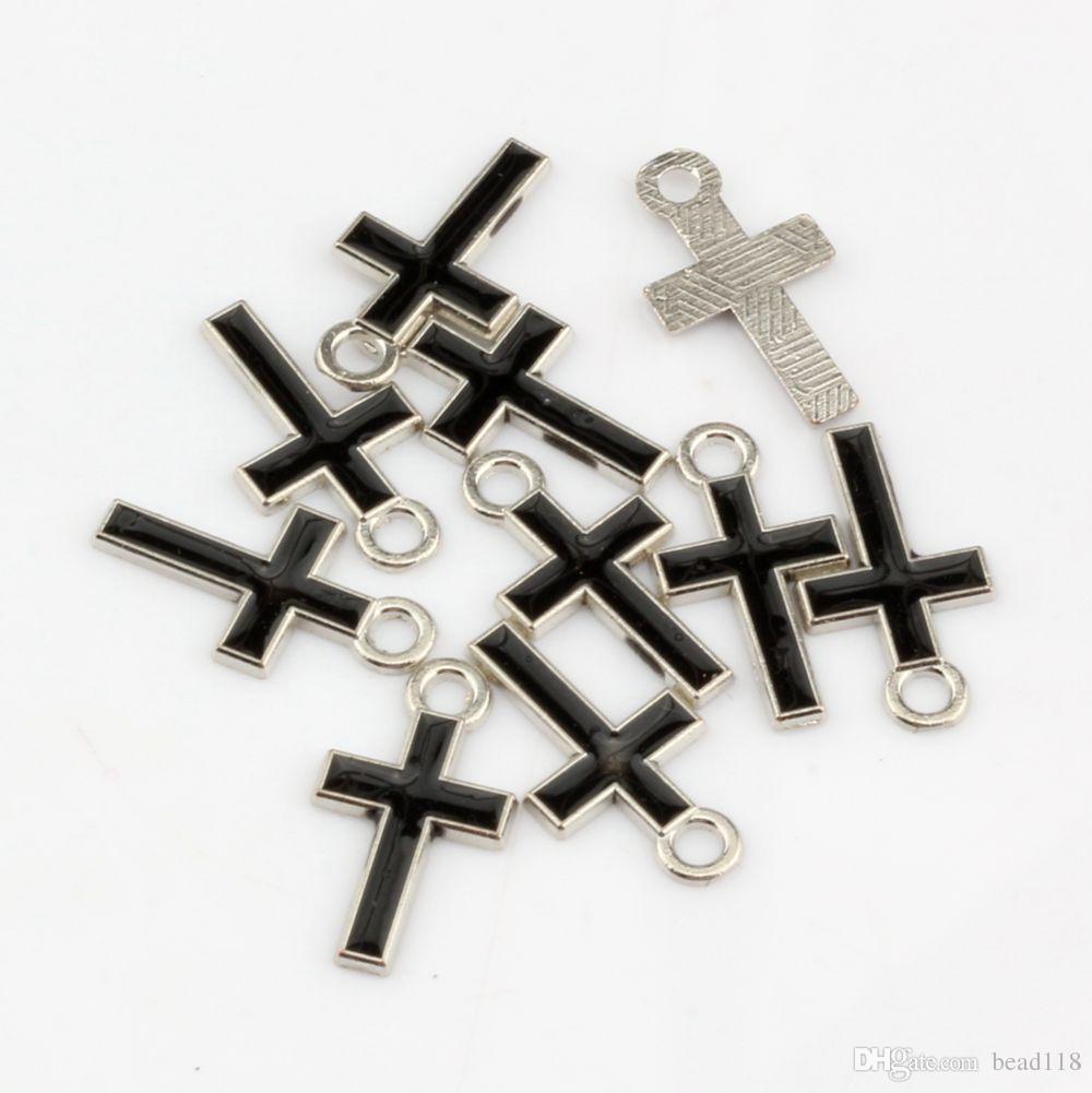 ホット ! 500個ミックスカラースタイリッシュなかなり小さなエナメルクロス合金チャーム8mm * 15mm DIYジュエリー