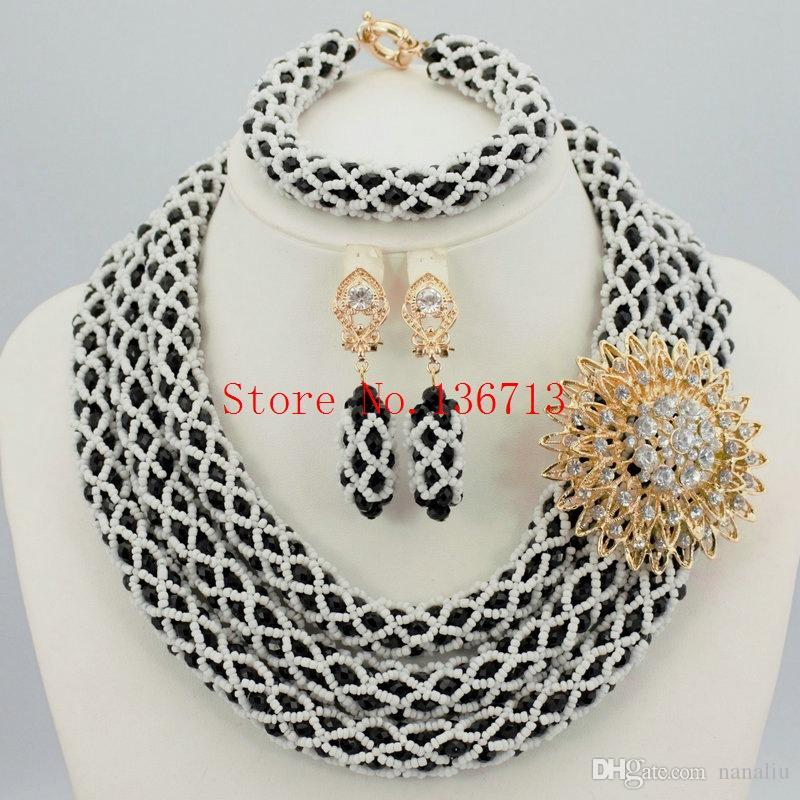 2018 2016 Latest New African Beads Bridal Jewelry Set Classic ...