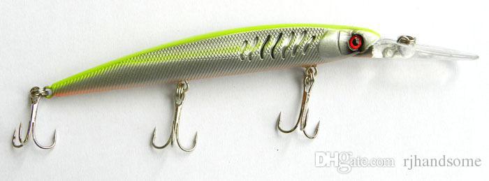 145mm/12.7g Minnow bass fishing bait Dving1.8-2.7M VIB sea Pike bait 3 hooks Power fishing Lure from china