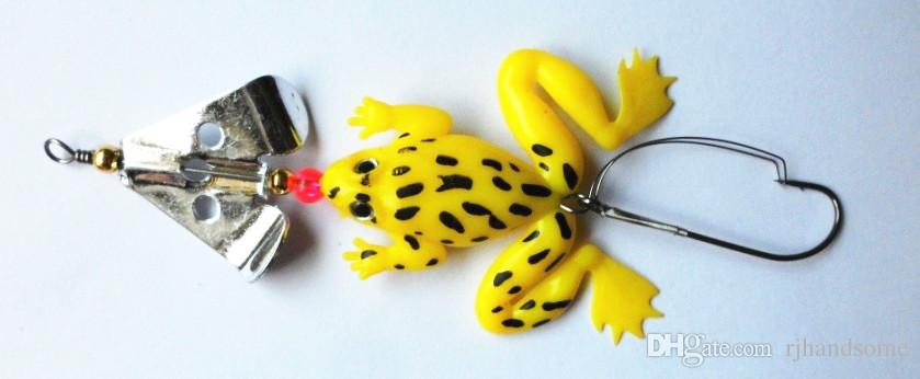 New Promotions Soft Rubber Frog Lure Bass Bait Tackle Hooks 9cm Fishing lure Plastic insect Fishing Bait
