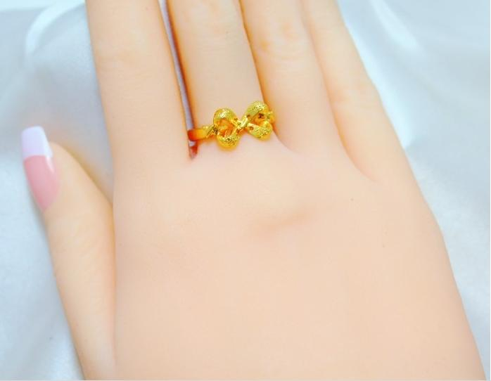 Bridal Wedding Jewelry Gold Finger Ring Size Adjustable Weight