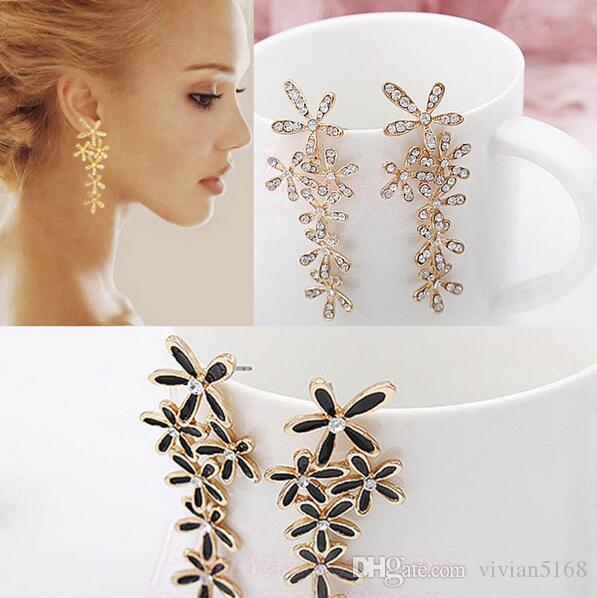 Christmas Gift Wedding Brand Bijoux Statement Flower Earring Drip Snowflake Stud Earrings For Women Fashion Jewelry Frozen earrings