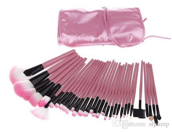 Professional Makeup Brushes Make Up Cosmetic Brush Set Kit Tool + Roll Up leather Case christmas gifts