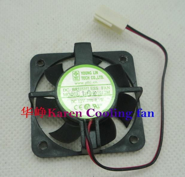 Jovem Lin DFB401012M 40 * 10mm 12V 0.7W fã de refrigeração de bola 2Wiredouble