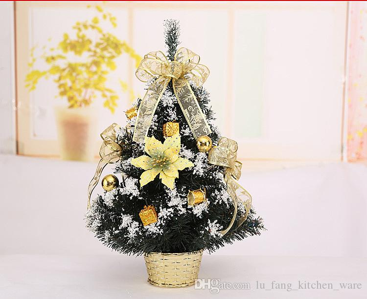 Mini Weihnachtsbaum Weihnachtsschmuck auf dem Tisch DIY Party Exquisite gold blau kleine Baum Dekoration Party Supplie 3 Größe Großhandel