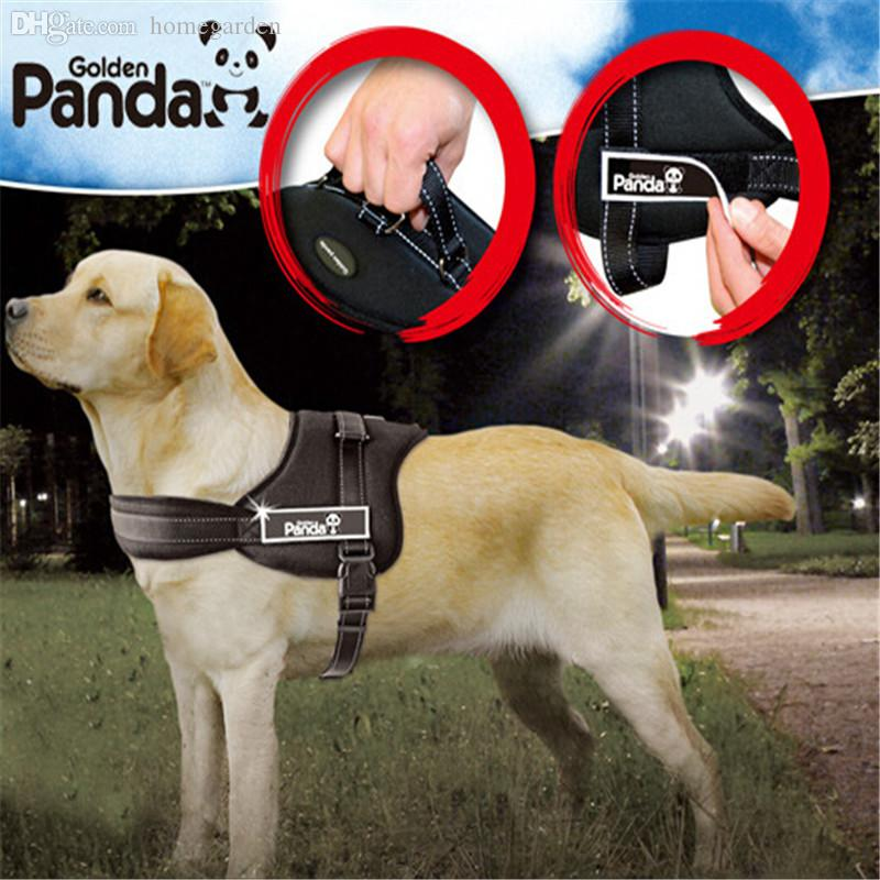 Wholesale-Dog Collar Pet Products Gold Panda K8 Harness Pet Harness Dog Harness Tow Rope New 2015 Dog Leash 1sets/lot