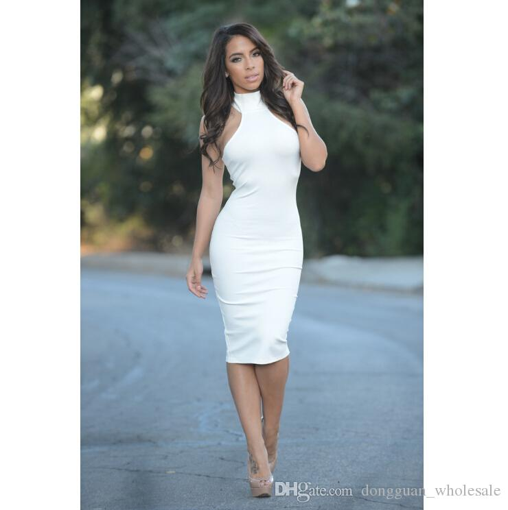White Turtleneck Dress