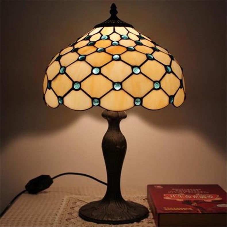Europe Retro Glass Lamps European Retro Table Lamps Modern Minimalist Fashion Glass Alloy Desk Lamp Living Room Bedroom Bedside Lamp