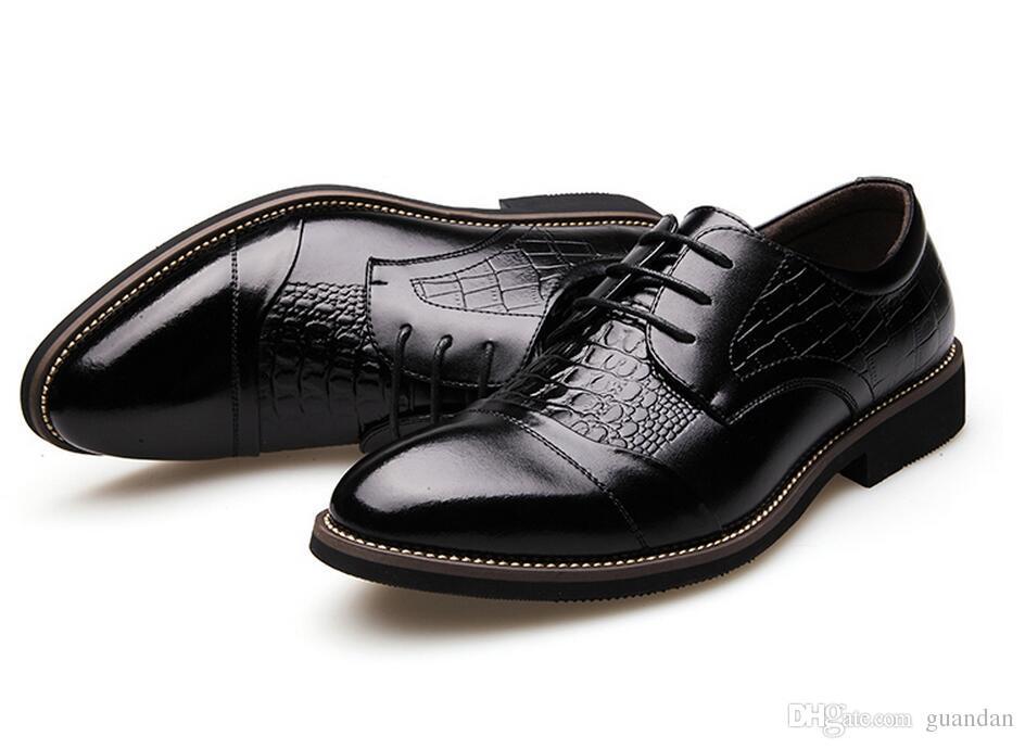 Cuir véritable hommes Flats, 2017 Business marque en cuir Design hommes chaussures habillées, hommes Oxfords formelle chaussure