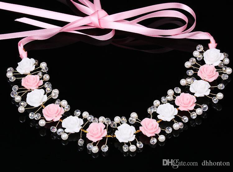 Necklace jewelry Romantic Rhinestone necklac Bridal Wedding Accessories Party Jewelry Wedding Accessories party dress gril evening HT080