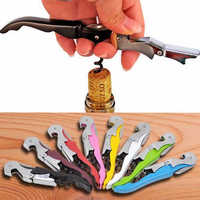 2,015 arrivée de nouveaux souple de haute qualité Velvet Touch serveurs Double charnière Corkscrew Key ouvreur de vin Bouteille avec poignée en plastique