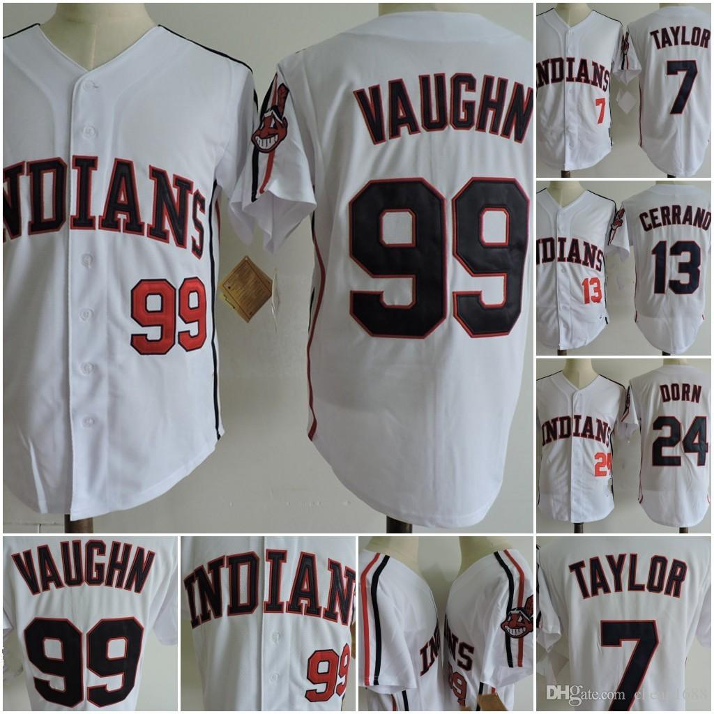 2b22424cd ... sale cleveland indians movie rick vaughn baseball jersey 7 jake taylor  13 pedro cerrano 24 roger