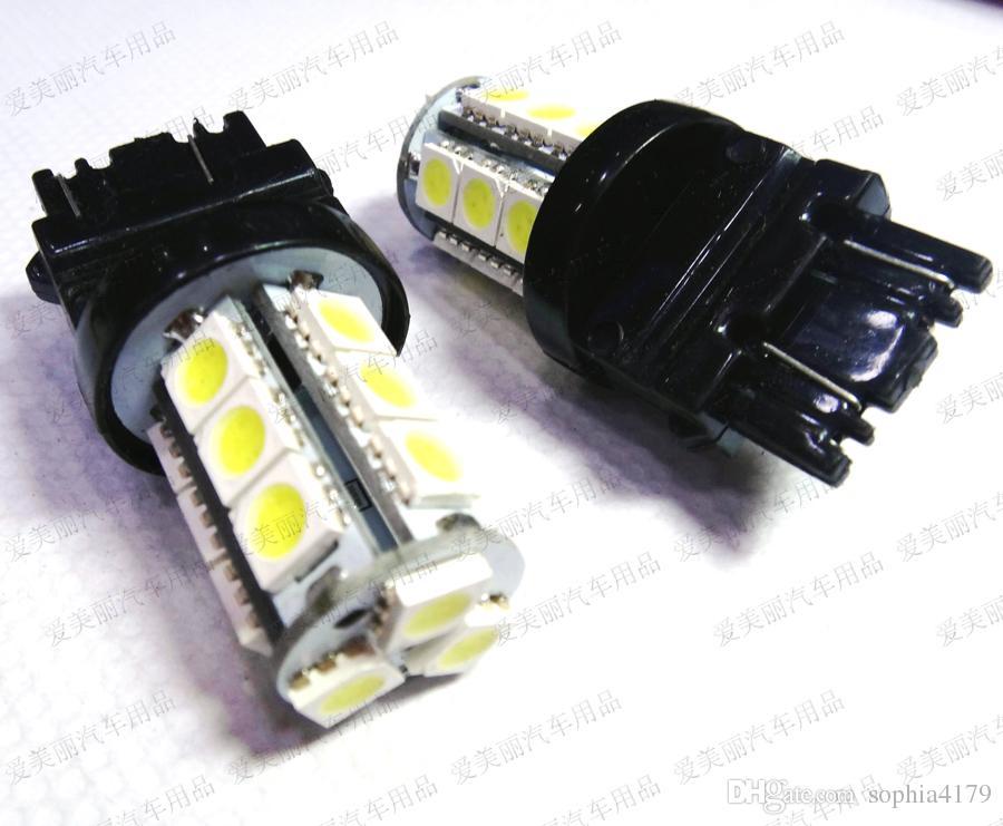 Promoción 18Led 5050 18 SMD 7440 7443 3156 3157 Bombilla de reserva de luz de automóvil Lámpara de parada Bombillas de cola Luz de giro 18 Led 12v / 24v