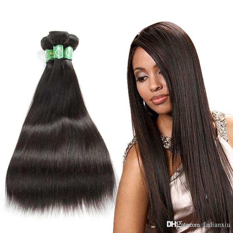 Brazilian Virgin Hair Weave 1 Bundles Silk Silky Straight 1b Sew In