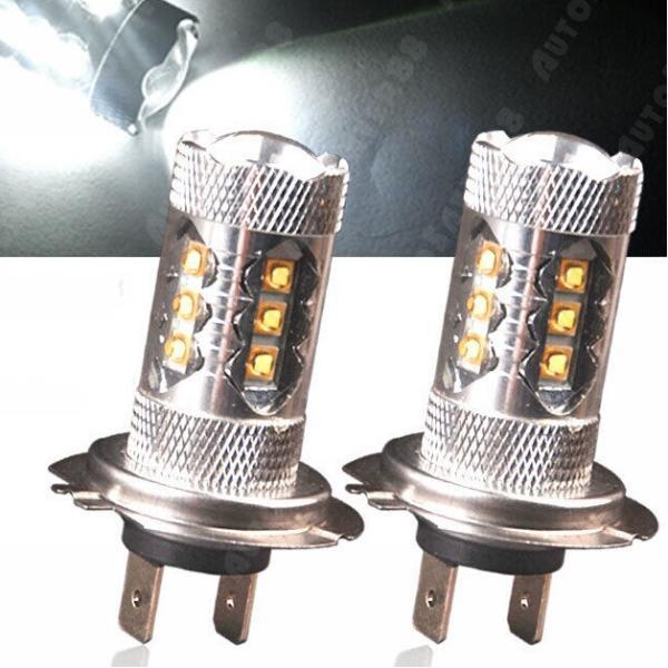 スーパーホワイト高出力LED 80W H7フォグライトレンズその他の基本利用可能なH4 H7 H8 H11 H9 9006 9005