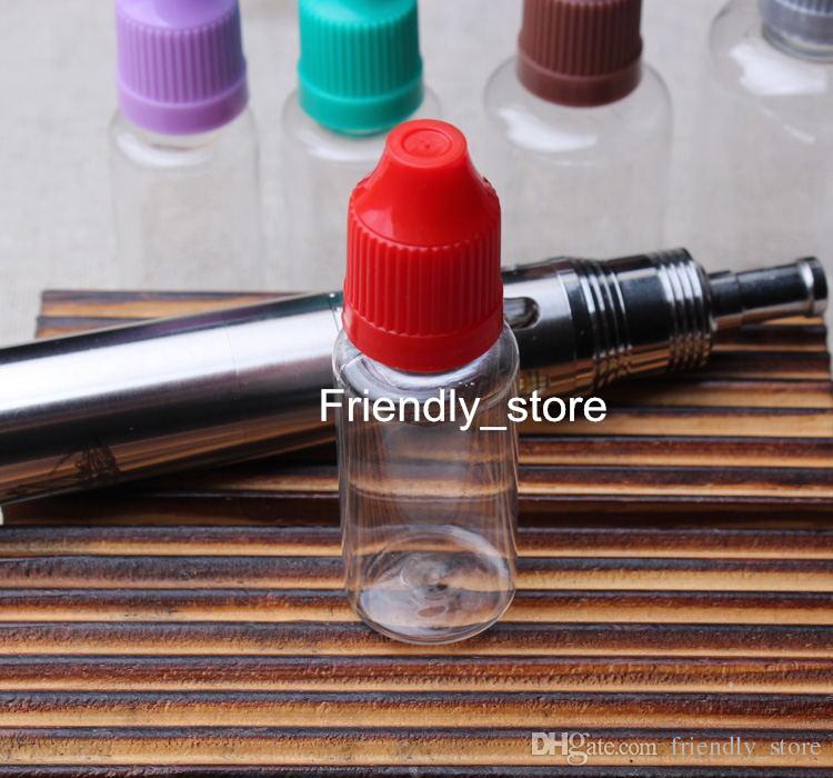 Les bouteilles en plastique colorées de l'ANIMAL FAMILIER 15ml gros vide 15 ml bouteilles de liquide de clope de vapeur d'E avec le chapeau de bourreur de Childproof et les bouts longs et minces